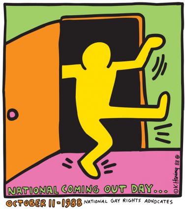 National Coming-Out Day, by Keith Haring {PNG}